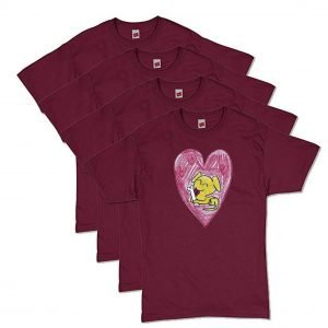 Maroon Puppy Love T-Shirt