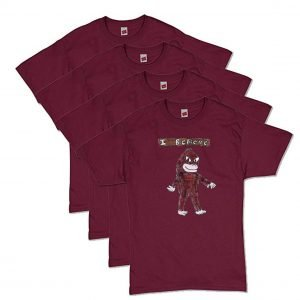 Maroon Bigfoot T-Shirt