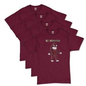 Maroon Bigfoot T-Shirt
