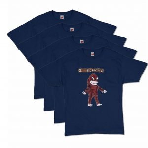 Navy Blue Bigfoot T-Shirt