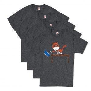 Grey Brat Cat T-Shirt