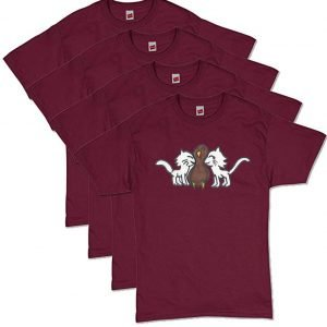 Maroon CatTurkey T-Shirt