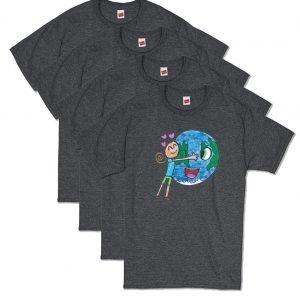 Grey Earth Love T-Shirt