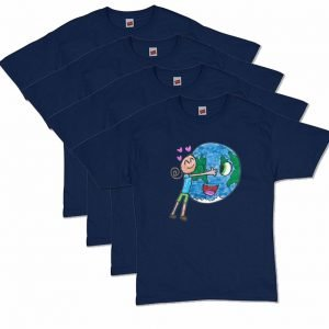 Navy Blue Earth Love T-Shirt