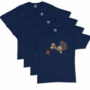 Navy Blue Turkey T-Shirt