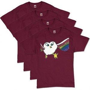 Maroon Owl T-Shirt