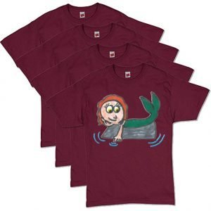 Maroon Mermaid T-Shirt