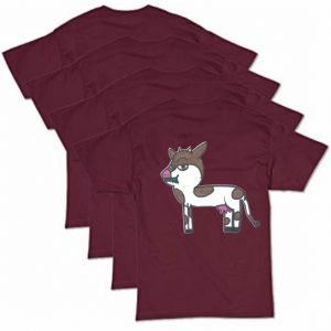 Maroon Cow T-Shirt