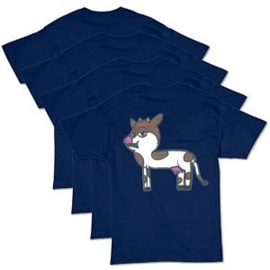 Navy Blue Cow T-Shirt