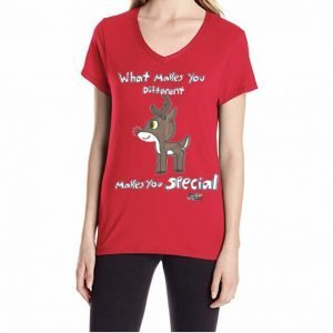 Autism Awareness Red Rudolph Women's