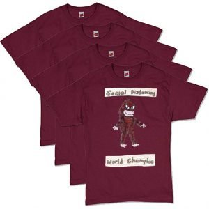 Bigfoot Maroon Social Distancing T-Shirt