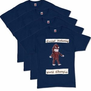 Bigfoot Navy Social Distancing T-Shirt